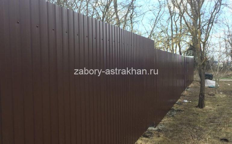 забор из профлиста в Астрахани